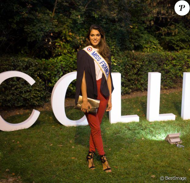 Exclusif - Iris Mittenaere, Miss France 2016 lors de la soirée pour le lancement du Millésime 2006 de la maison Champagne Collet à l'Ecole Nationale des Beaux-Arts à Paris, le 22 septembre 2016