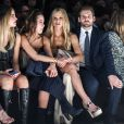 Michelle Hunziker avec sa fille Aurora Ramazzotti et son mari Tomaso Trussardi assistent au défilé de mode Trussardi lors de la Fashion Week à Milan, le 25 septembre 2016  Michelle Hunziker, Tomaso Trussardi and Aurora Ramazzotti attend Trussardi Fashion Show during Milan Fashion Week on September 25, 2016 in Milan, Italy.25/09/2016 - Milan