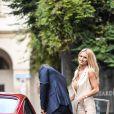 Michelle Hunziker et son mari Tomaso Trussardi - Défilé de mode Trussardi lors de la Fashion Week à Milan, le 25 septembre 2016.