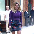 Hilary Duff à la sortie d'un immeuble à New York, le 26 septembre 2016