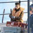 """Harry Styles sur le tournage de """"Dunkirk"""" à Weymouth. Angleterre, le 28 juillet 2016."""