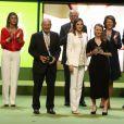La reine Letizia d'Espagne lors de la Journée mondiale de la lutte contre le cancer à Barcelone le 22 septembre 2016.