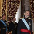 Le roi Felipe VI d'Espagne reçoit des lettres de créance au palais à Madrid le 22 septembre 2016.