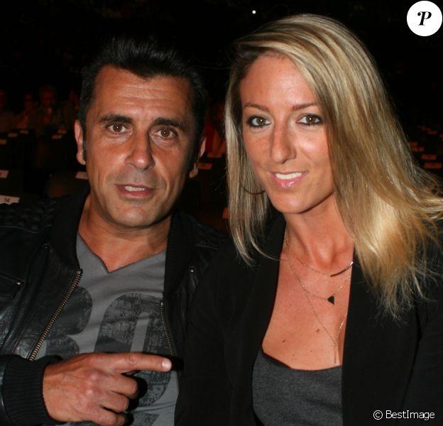 Bébert des Forbans (Albert Kassabi) et sa compagne Astrid - Jour 3 - People au concert de Michel Polnareff à l'AccorHotels Arena de Paris le 10 mai 2016.