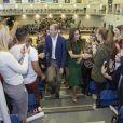 Le prince William et Kate Middleton, duc et duchesse de Cambridge, ont dévoilé une plaque commémorant le 10e anniversaire du campus Okanagan à l'Université de Colombie-Britannique de Kelowna dans la vallée de l'Okanagan, au matin du quatrième jour de leur visite officielle au Canada, le 27 septembre 2016.