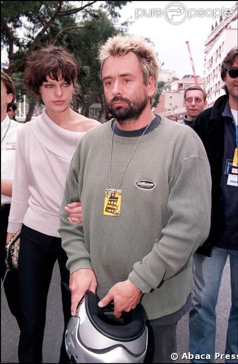 Luc Besson avec sa deuxieme femme, Milla Jovovich