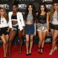 """Le groupe Fifth Harmony (Ally Brooke, Normani Kordei, Lauren Jauregui, Camila Cabello et Dinah Jane) lors des """"Players Awards"""" au Rio All-Suite Hotel & Casino à Las Vegas, le 19 juillet 2015."""