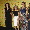 """Les membres du groupe """"Fifth Harmony"""" posant dans la salle de presse aux Teen Choice Awards 2015 à Los Angeles, le 16 août 2015."""