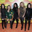 Lauren Jauregui, Ally Brooke, Normani Hamilton, Dinah Jane Hansen et Camila Cabello (Fifth Harmony) à la soirée 2015 Halo Awards à New York, le 14 novembre 2015