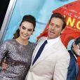 "Armie Hammer et sa femme Elizabeth Chambers à l' Avant-première du film ""The Man From U.N.C.L.E."" au Ziegfeld Theatre à New York, le 10 août 2015."