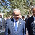 Benyamin Netanyahou, Barack Obama - Obsèques de Shimon Pérès, au cimetière national du mont Herzl à Jérusalem. Israël, le 30 septembre 2016.