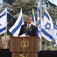 Barack Obama - Obsèques de Shimon Pérès, au cimetière national du mont Herzl à Jérusalem. Israël, le 30 septembre 2016.