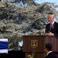 Bill Clinton aux funérailles de Shimon Peres en Isarël, le 30 septembre 2016