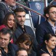 Alice Belaïdi et Gianni Giardinelli lors du match PSG - Bordeaux au Parc des Princes le 1er octobre 2016. © Cyril Moreau / Bestimage