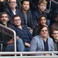 Ary Abittan, Frédéric Chau, Luis Fernadez et Malika Ménard lors du match PSG - Bordeaux au Parc des Princes le 1er octobre 2016. © Cyril Moreau / Bestimage