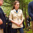 Le duc William et la duchesse Catherine de Cambridge visitaient la réserve de Bella Bella et la Forêt Grand Ours au Canada le 26 septembre 2016.