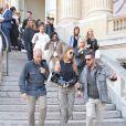 Gigi Hadid à la sortie du défilé de mode prêt-à-porter printemps-été 2017 Giambattista Valli à Paris. Le 3 octobre 2016 © CVS-Veeren / Bestimage