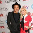 Emma Bunton et son fiancé Jade Jones à la soirée Attitude Awards 2016 à Londres, le 9 octobre 2016
