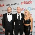 Seth Cumming, Judge Rinder, Oksana Platero à la soirée Attitude Awards 2016 à Londres, le 9 octobre 2016