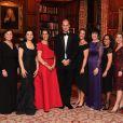 Le prince William lors de la soirée de gala de la fondation 100 Women in Hedge Funds à Londres le 10 octobre 2016, au profit de l'association SkillForce dont il est le parrain.