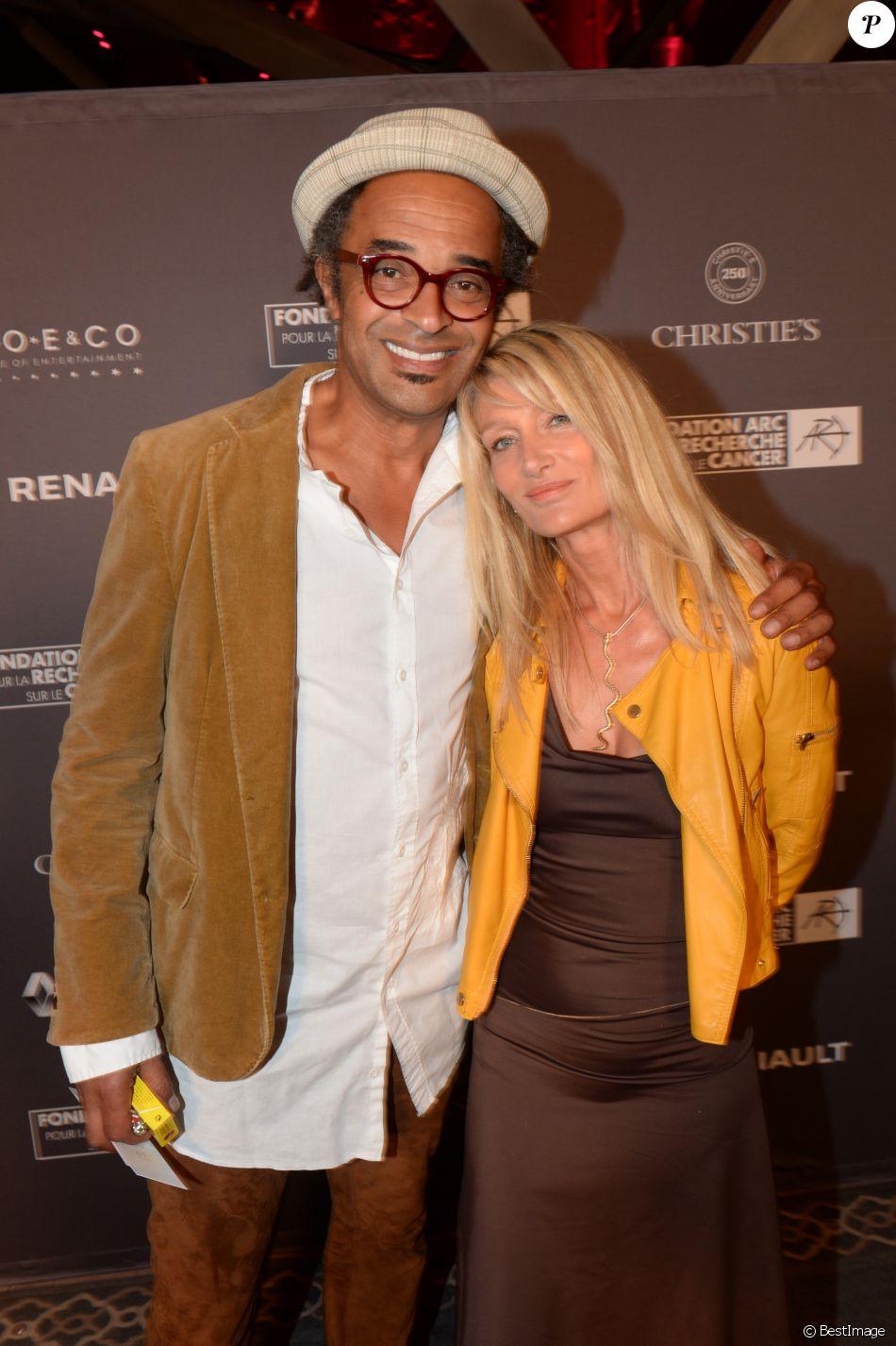 Yannick Noah et sa femme Isabelle Camus lors du d ner de la