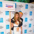 Jemima Goldsmith a fait sensation déguisée en Melania Trump agrippée par Donald Trump et ses mains baladeuses lors du Bal d'Halloween de l'UNICEF au profit des enfants réfugiés syriens à la salle One Embankment à Londres le 13 octobre 2016.