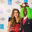 Sol Campbell et sa femme Fiona lors du Bal d'Halloween de l'UNICEF au profit des enfants réfugiés syriens à la salle One Embankment à Londres le 13 octobre 2016.