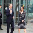 Le prince William, duc de Cambridge et Catherine Kate Middleton, duchesse de Cambridge, quittent le musée nationale du football à Manchester le 14 octobre 2016.  The Duke and Duchess of Cambridge leave the National Football Museum in MAnchester 14 October 201614/10/2016 - Manchester