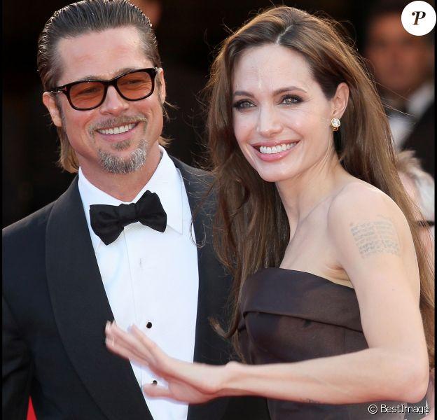 Brad Pitt et Angelina Jolie à Cannes en mai 2011.