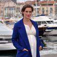 """Friederike Becht enceinte - Photocall de la série """"The Same Sky"""" à l'occasion du MIPCOM à Cannes, le 17 octobre 2016. © Bruno Bebert/Bestimage"""