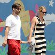 Exclusif - Tobey Maguire et sa femme Jennifer Meyer passent le jour de la fête des pères avec des amis à Venice le 22 juin 2015.