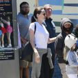 Exclusif - Pax, Vivienne et Zahara - Brad Pitt, Angelina Jolie et leurs enfants sont allés fêter l'anniversaire des jumeaux au skate parc Ice Land à Van Nuys. Le 12 juillet 2015