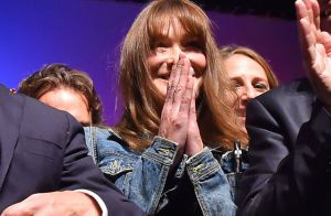 Carla Bruni-Sarkozy, émue de voir son homme, Nicolas, sur scène