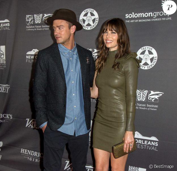 Jessica Biel et son mari Justin Timberlake à la première de 'The Book of Love' à La Nouvelle Orléans, le 15 octobre 2016 © CPA/Bestimage