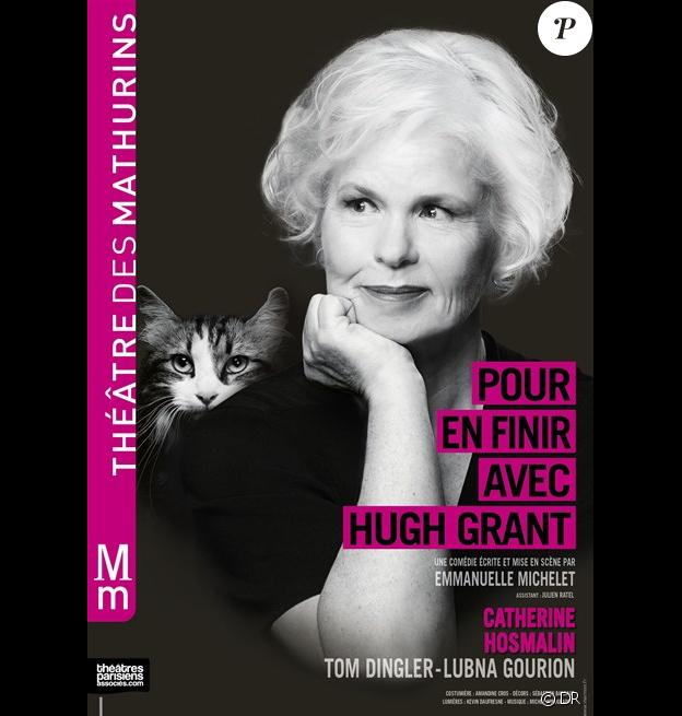 Affiche de la pièce Pour en finir avec Hugh Grant, au théâtre des Maturins à Paris - automne 2016
