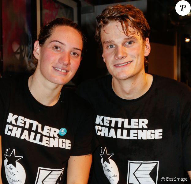"""Camille Muffat, Yannick Agnel au Kettler Challenge au profit de l'association """"L'étoile de Martin"""" à l'hôtel Molitor à Paris, le 1er décembre 2014"""