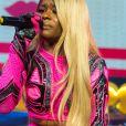 """Azealia Banks en Concert lors de l'évènement """"Orange RockCorps"""" pour la 6ème année consécutive au Trianon à Paris, le 2 juillet 2014."""