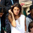 Noura El Swekh, compagne de Jo-Wilfried Tsonga, dans les tribunes de Roland-Garros le 26 mai 2016. © Dominique Jacovides / Bestimage