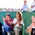 Noura El Shwekh, la fiancée de Jo-Wilfried Tsonga, dans les tribunes du  - People dans les Monte-Carlo Rolex Masters 2016 en avril 2016. Le couple attend son premier enfant pour 2017. © Bruno Bebert / Bestimage