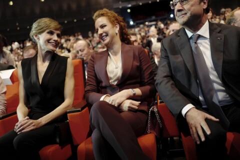 Letizia d'Espagne et Lalla Salma du Maroc unies à Paris, François Hollande ravi