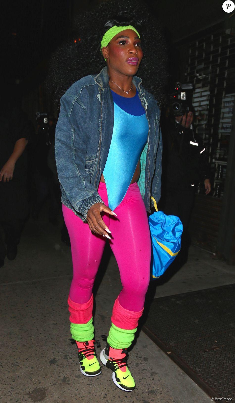 Serena Williams - Les célébrités arrivent à la soirée d'Halloween de Heidi Klum au Vandal club à New York, le 31 octobre 2016