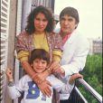 Serge et Michèle Lama avec leur fils Frédéric en février 1989