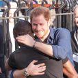 Le prince Harry à Nottingham le 26 octobre 2016 pour soutenir le programme Coach Core à la patinoire nationale de Londres. Il aurait ensuite sauté dans un avion à destination de Toronto pour retrouver sa petite amie supposée, l'actrice Meghan Markle.