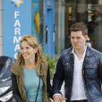 Michael Bublé, sa femme Luisana Lopilato se promènent dans les rues de Madrid. Le28 avril 2015