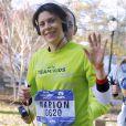 Marion Bartoli pendant le marathon de New York, le 6 novembre 2016.