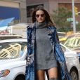 Alessandra Ambrosiose rend au siège de Victoria's Secret à Manhattan. New York, le 1er novembre 2016.