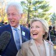 Hillary et Bill Clinton sont allés voter à l'école élémentaire Douglas Grafflin à Chappaqua dans l'Etat de New York, le 8 novembre 2016.