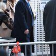 Le candidat à la présidentielle républicaine, Donald Trump, et sa femme, Melania Trump, sont allés voter le jour de l'élection présidentielle au PS 59 à New York City, New York, Etats-Unis, le 8 novembre 2016.