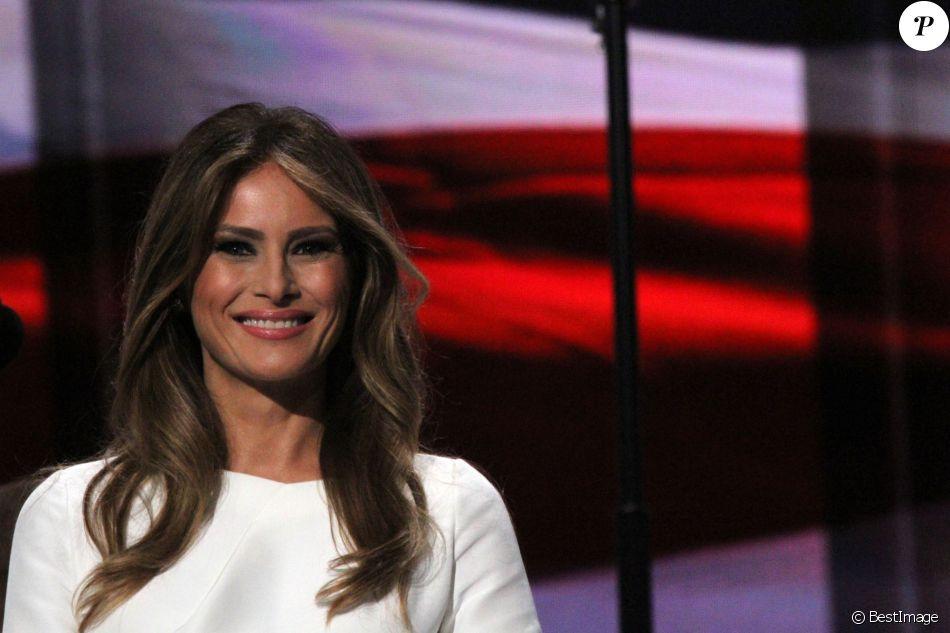 Melania Trump, la femme de Donald Trump lors du 1er jour de la convention républicaine à Cleveland, le 18 juillet 2016.