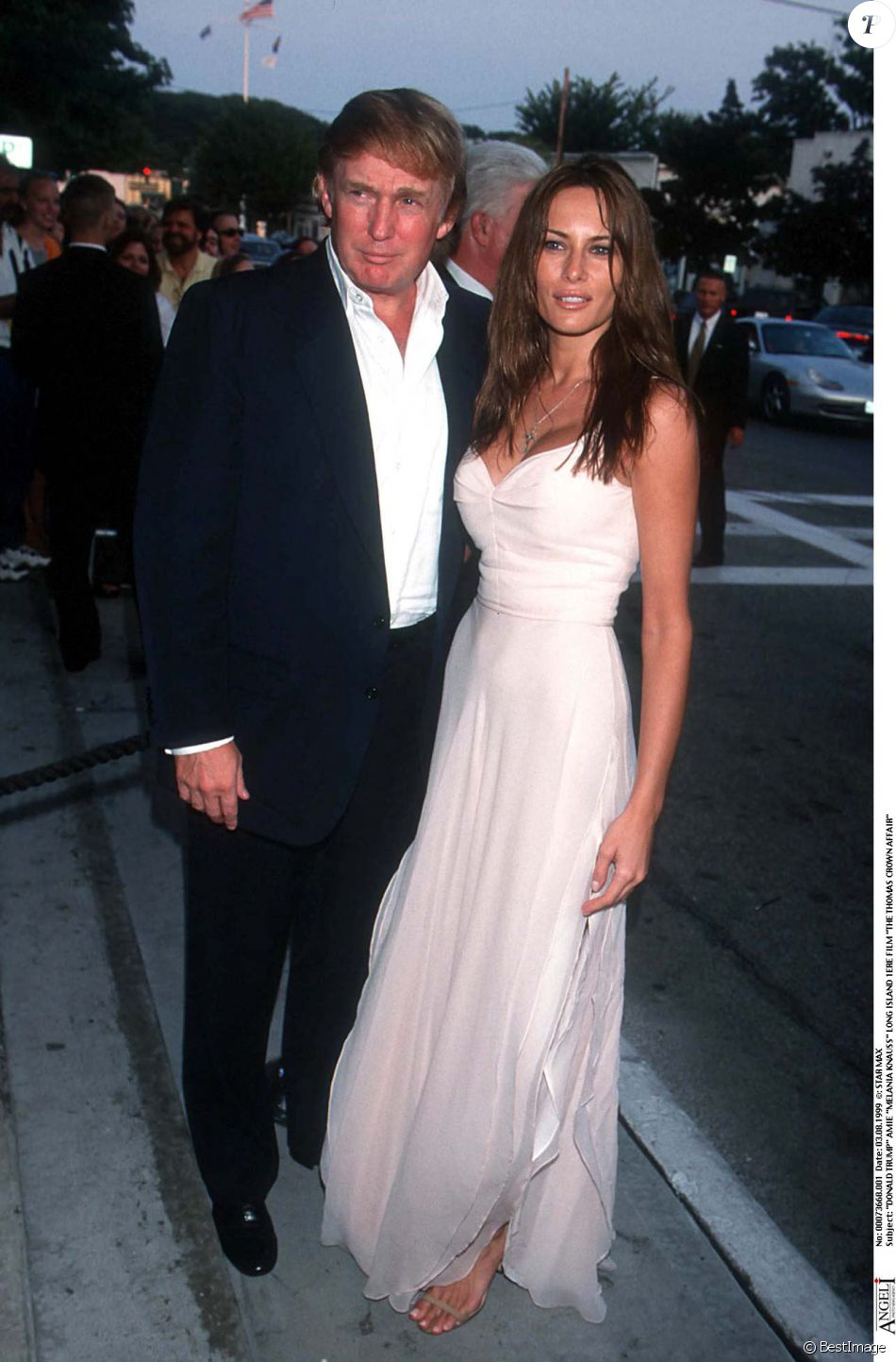 Donald Trump et Melania Knauss en 1999 - Purepeople